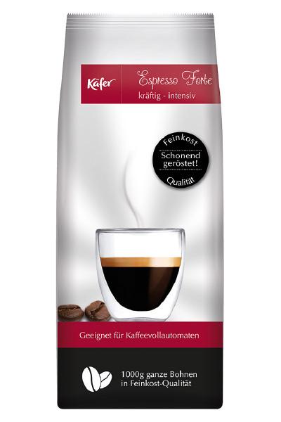 espresso forte feinkostkaffee von k fer online bestellen kaffee. Black Bedroom Furniture Sets. Home Design Ideas