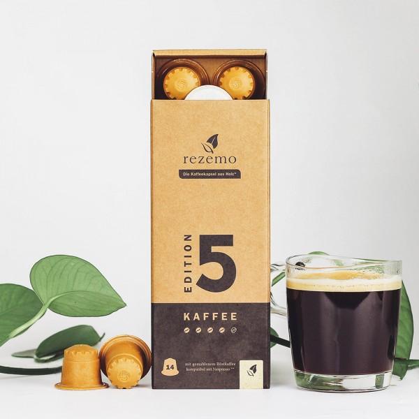 rezemo - Bio-Arabica in der Kaffeekapsel aus Holz - Nespresso® kompatibel