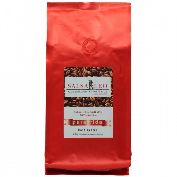 Kaffee Creme - pura vida Salsa Leo 500 g Bohne