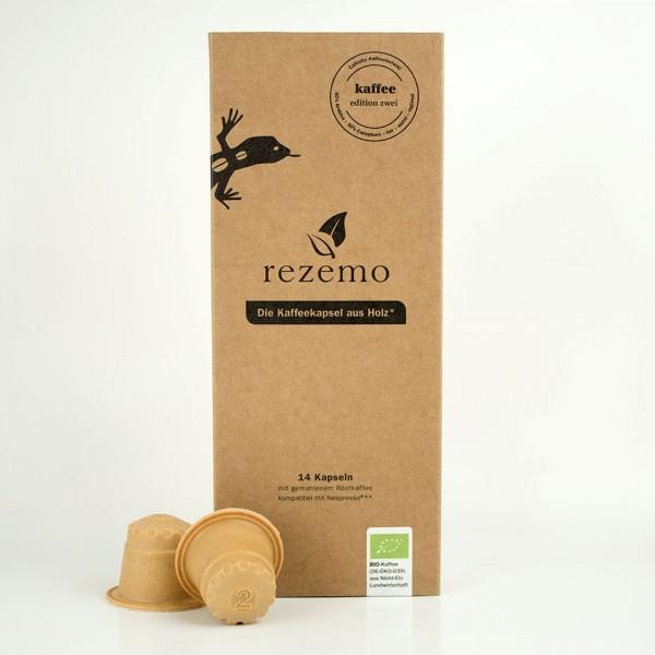 rezemo Kaffeekapsel aus Holz Nespresso® kompatibel - kaffee edition zwei
