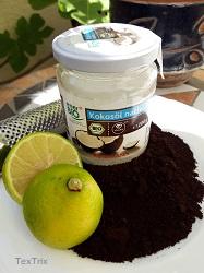 Kaffeesatz-Bodypeeling-Zutaten