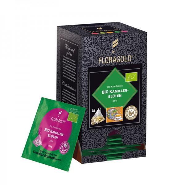 Bio Kamillenblüten ganz von FLORAPHARM® 15 Pyramidenbeutel
