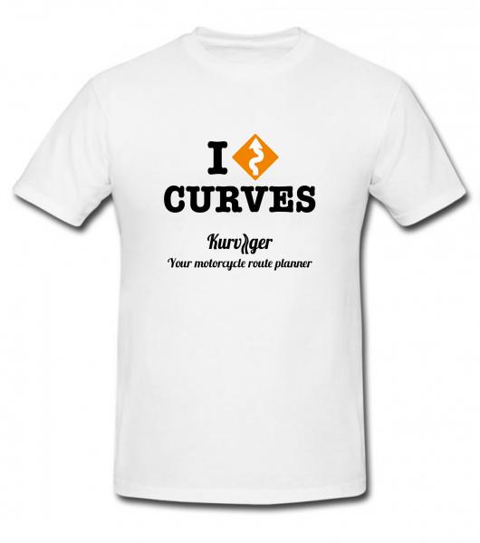 """Kurviger.de T-Shirt """"I Curves"""""""