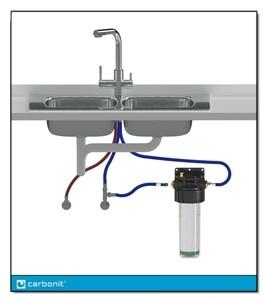 Urquell Wasser Set Untertisch mit 3 Wegehahn