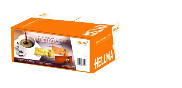 Kekse mit Schokolade-, Vanille- und Karamellgeschmack von HELLMA im 3-er Mix bei Kaffee-Welt24.de