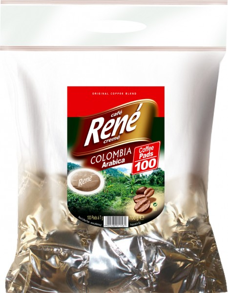 Rene Cafe Creme 100 Pads Colombia Arabica